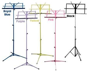 Folding Music Stand, 3 Section Purple