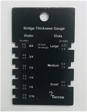 Bridge Thickness Gauge for Violin and Viola